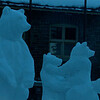 Ice sculpture in Banff