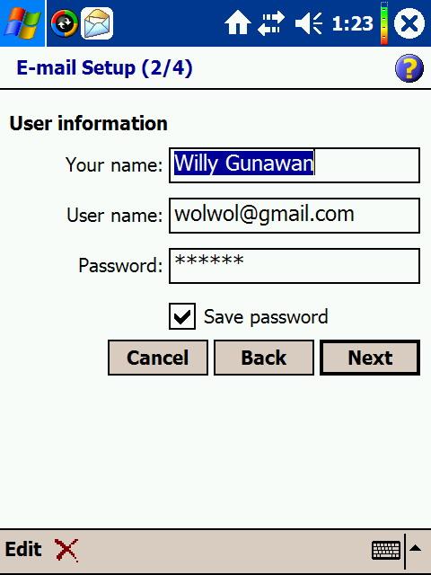 masukin nama: xxxxx<br /> username: xxx@gmail.com<br /> password: xxx