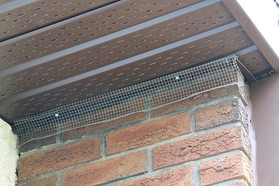 The soffit is both too short and bent where it meets the fascia (upper right side of image).