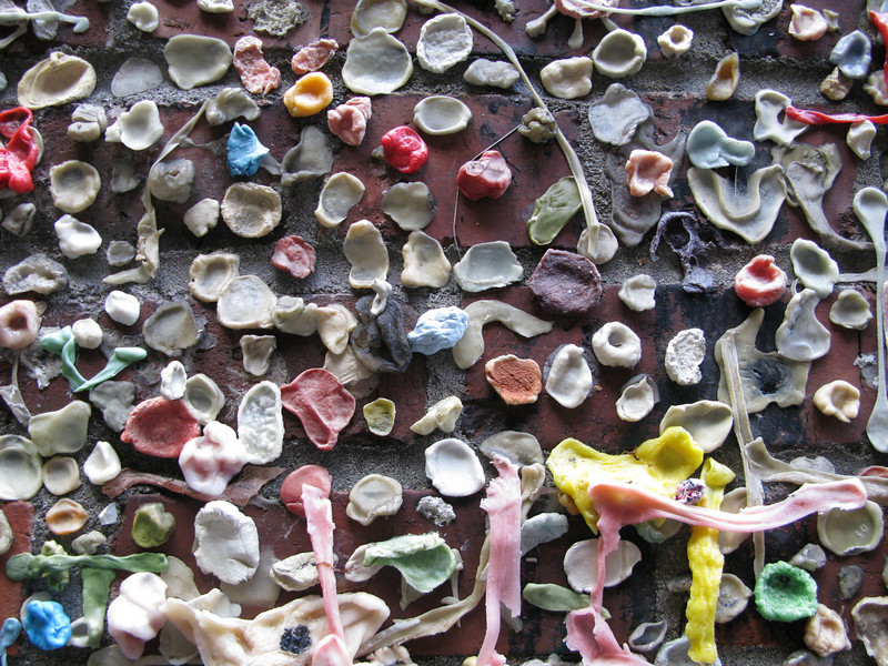 my contribution to the gum wall.
