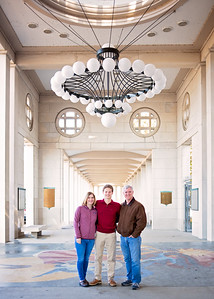 Muny Hall - With mom and dad-