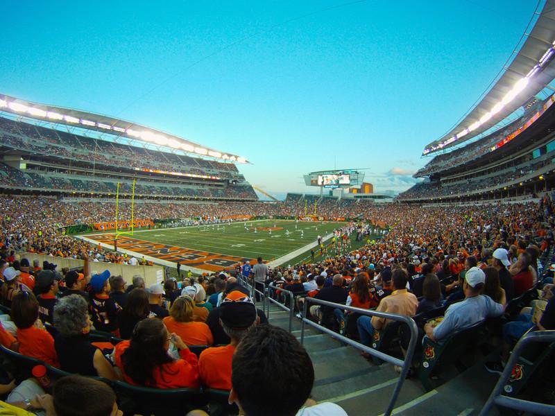 And Football Begins<br /> Bengals-Jets preseason game at PBS in Cincinnati, Ohio.