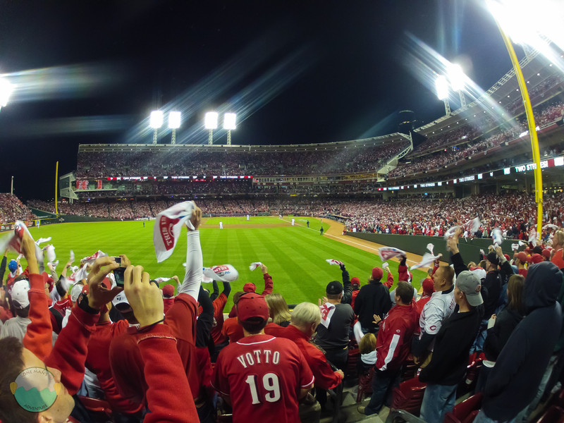 Game 3 NLDS<br /> Shot of the Rally Towels getting some action at GABP for Game 3 of the NLDS against the Giants.