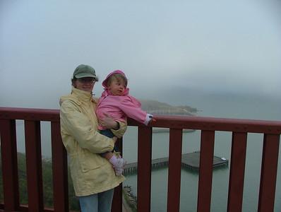Mom and Sam on the Bridge