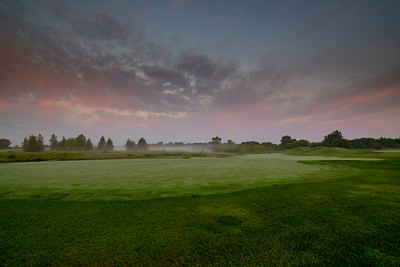 Foggy Morning on the 17th Green | Loggers Trail Golf Course | Stillwater, MN