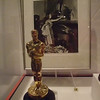 Vivien Leigh won Best Actress for her portrayal of Scarlett O'Hara. This is her Oscar and a photograph of her putting it on her mantle at home.