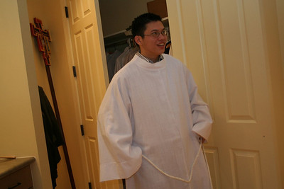 Novice Son Ho gets ready for the mass
