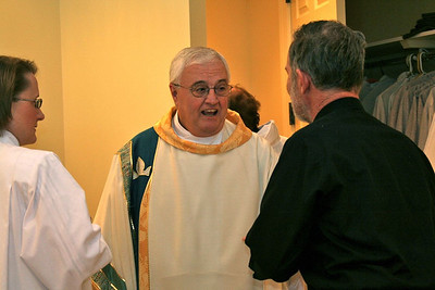 The bishop and Fr. Tim Gray