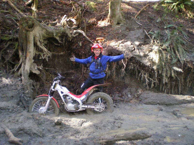 Dan in a muddy spot.