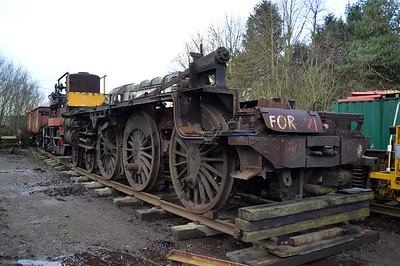 4-6-0 Frame and Wheelsets for 5MT 44901 under restoration   16/01/15.