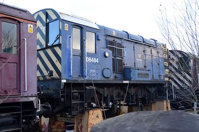 Class 08 08484 at Goodmans Wishaw.