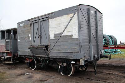 ex LNWR 10t Van 264517 carries 64517 Moveright Int, Wishaw 25/02/13.