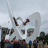 In front of Goodwood House they build a new sculpture every year. Lotus was the featured marque this year.