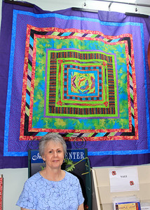 Shirley Berry and Her Quilt