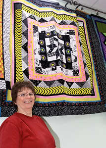 Barbara Miller and Her Quilt