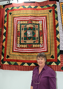 Jan McNeill and Her Quilt