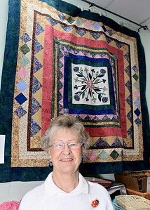 Roma Fuller and Her Quilt