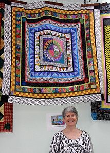 Ronda Leal and Her Quilt