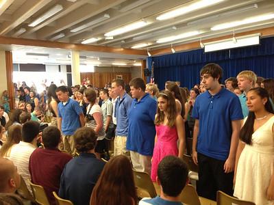 Grade 8 Awards Assembly 2013