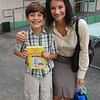 Auntie Sa gives Dimitri his birthday present. The 4th whimpy kid series book.