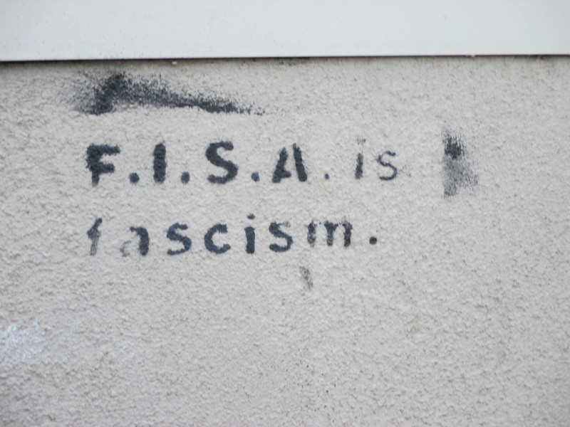 Only humorous to me- FISA is the name of an Italian company I knew