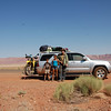 Paul and the kids take in the grandeur of the Vermillion Cliffs.