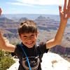 Dimitri shatters his fear of heights on top of Bright Angel Point rock.