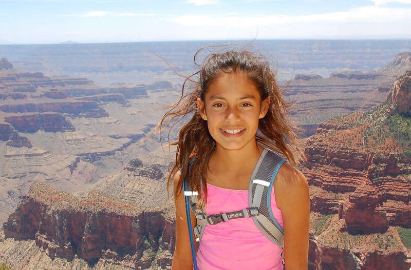 Alana soaks in the beauty of north rim Grand Canyon.