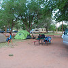 Busily setting up camp at Crazyhorse campground.