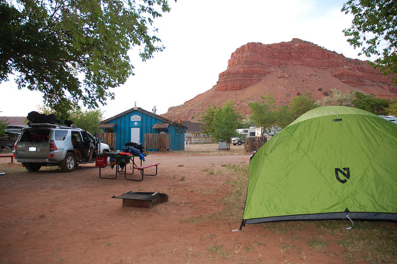 What a view from our site at Crazyhorse campground in Kanab, Utah.