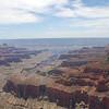The Colorado River divides Cape Royal.