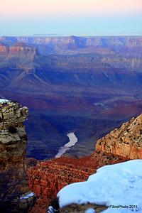 Alpenglow, Desert View, Grand Canyon, AZ