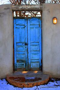 Old Blue Door, Cerillos, NM