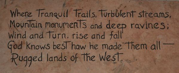 Quote on the wall at Phantom Ranch.