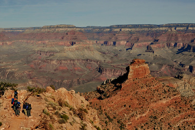 Taking in the view at Cedar Ridge ~ South Kaibab Trail.