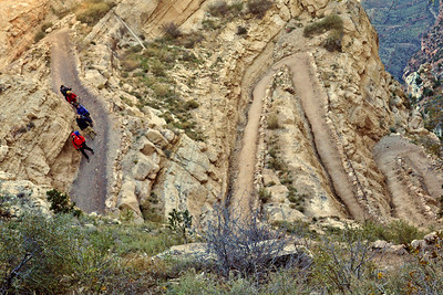 Going down & down & down... Switchbacks galore on the South Kaibab Trail.