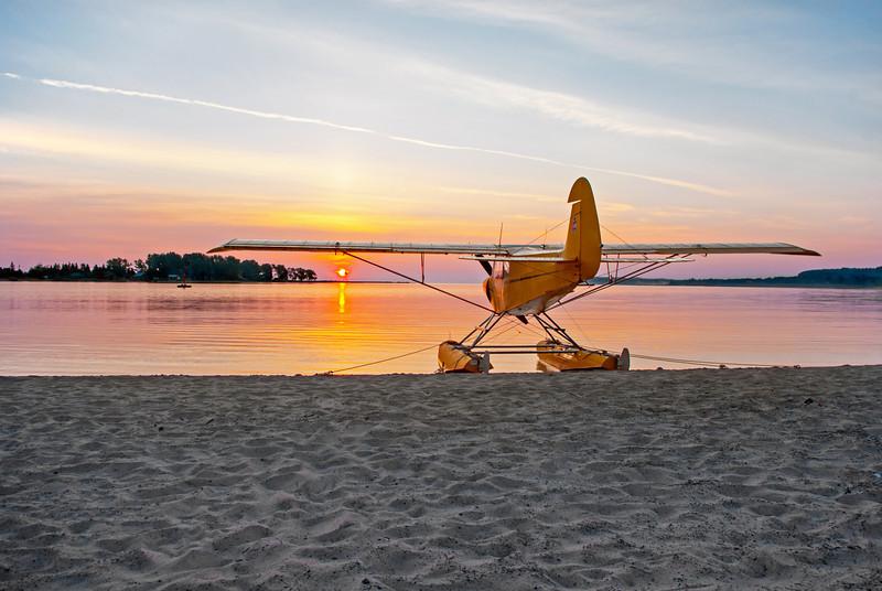 Morning of the Annual Splash-in held in June in Grand Marais Michigan
