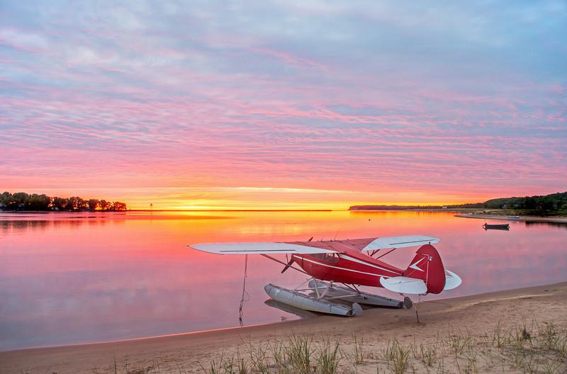 Morning of the annual Splash-in, Grand Marais Michigan