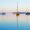 Calm summer evening on the bay in Grand Marais Michigan.