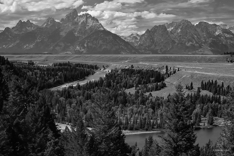 Grand Teton N P 14 Black & White (Red)