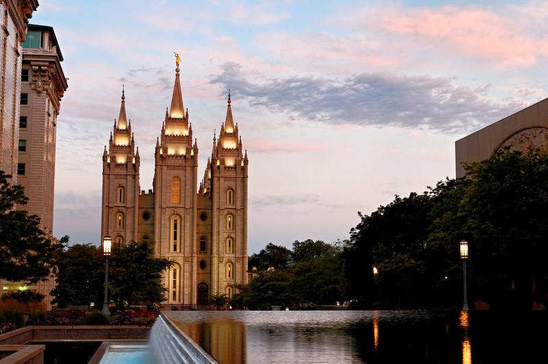 Mormon Temple at Dawn