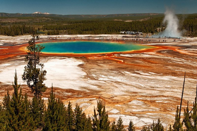 Grand Prismatic View - Yes the colors are real