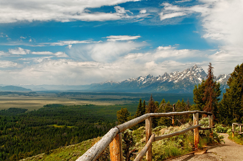 View of Tetons from Signal Mountain