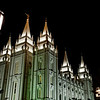Mormon Temple at Night - Salt Lake City