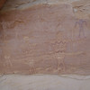 Pictograph panel in un-named alcove, Grand Gulch.