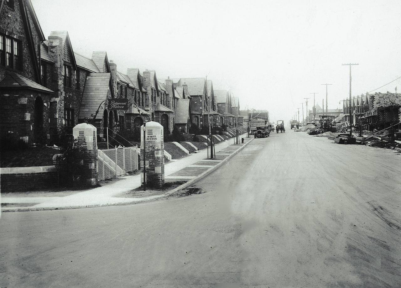 65th Place at Jay Avenue, looking north, 1935