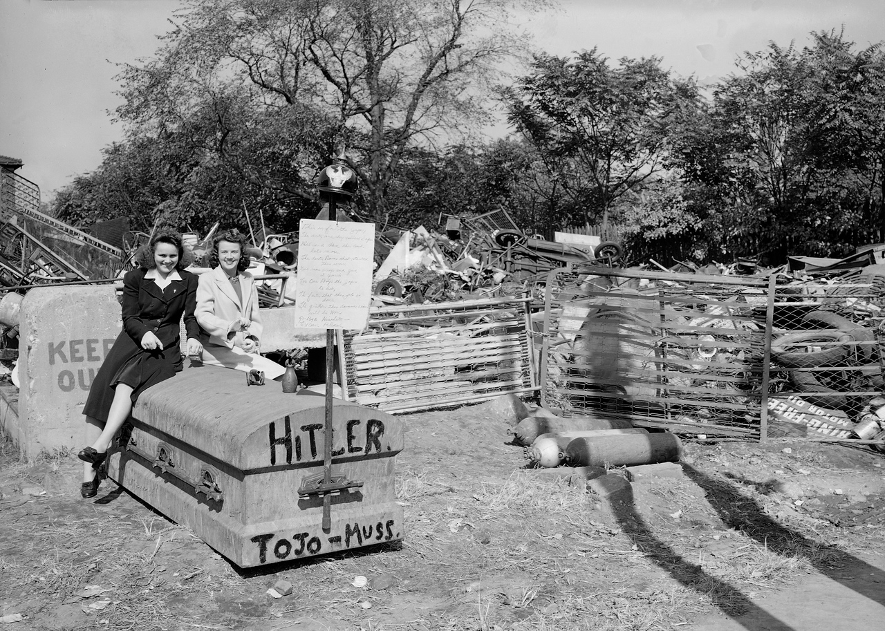 Maspeth women at recycling drive, 1942.