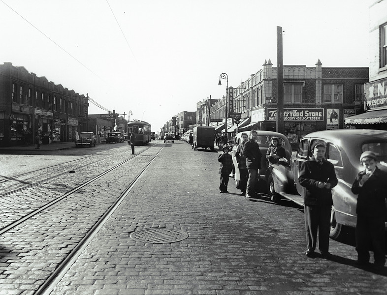 Grand Avenue east of 71st Street, looking west.