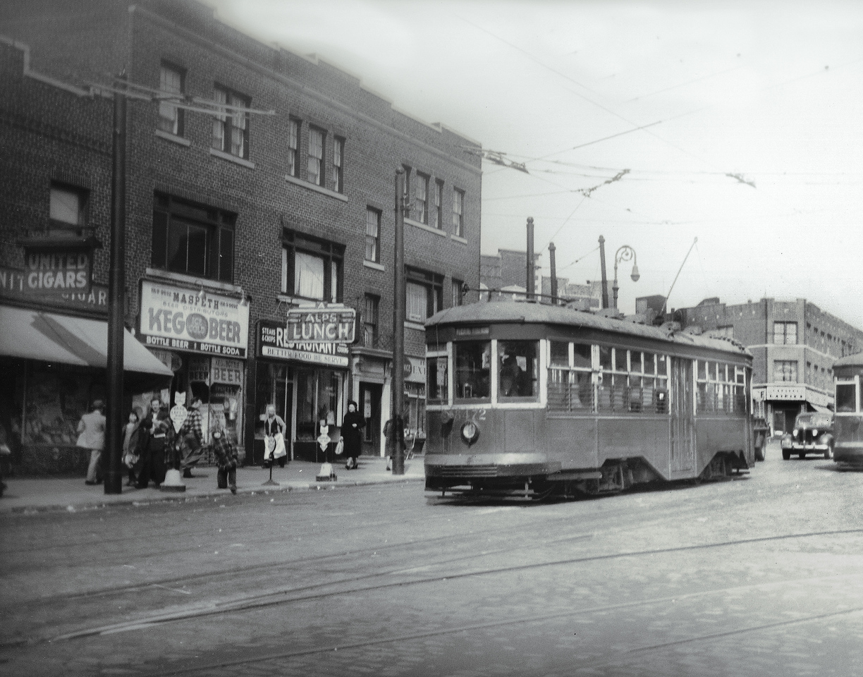 Here we see Grand Avenue from 68th Street, looking northeast.