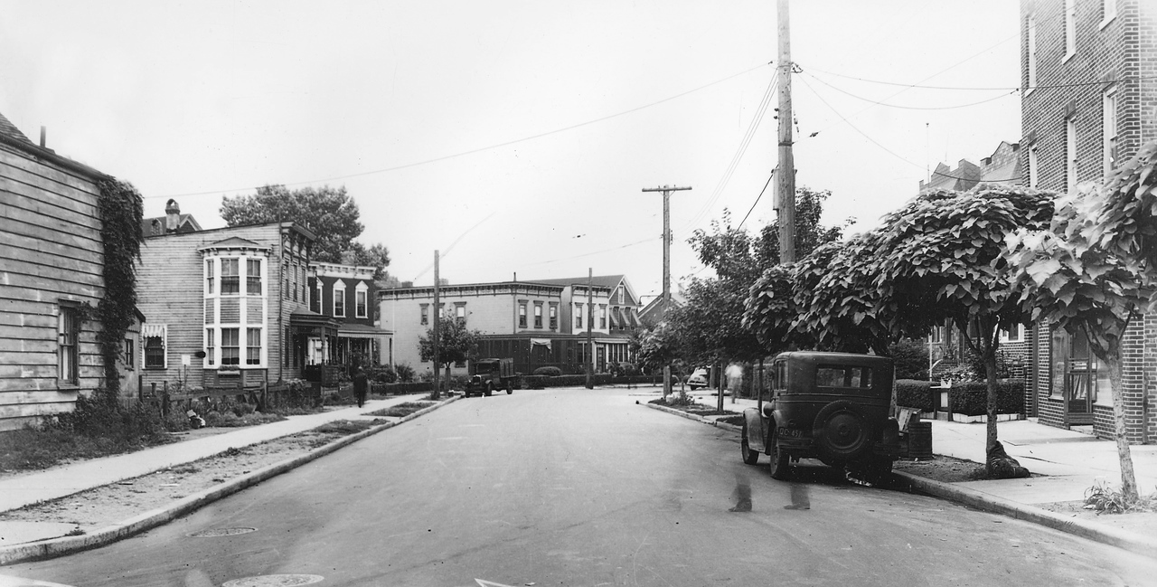 Mazeau Street, looking south from 57th Avenue. 